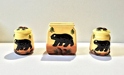 Tuscan Bear Collection Hand Painted Napkin, Salt and Pepper Stove tove Set, 86428 By ACK (Chef Tart Warmer compare prices)