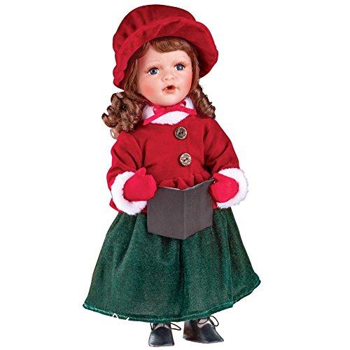 Christmas Caroler Collectible Porcelain Dolls, Girl