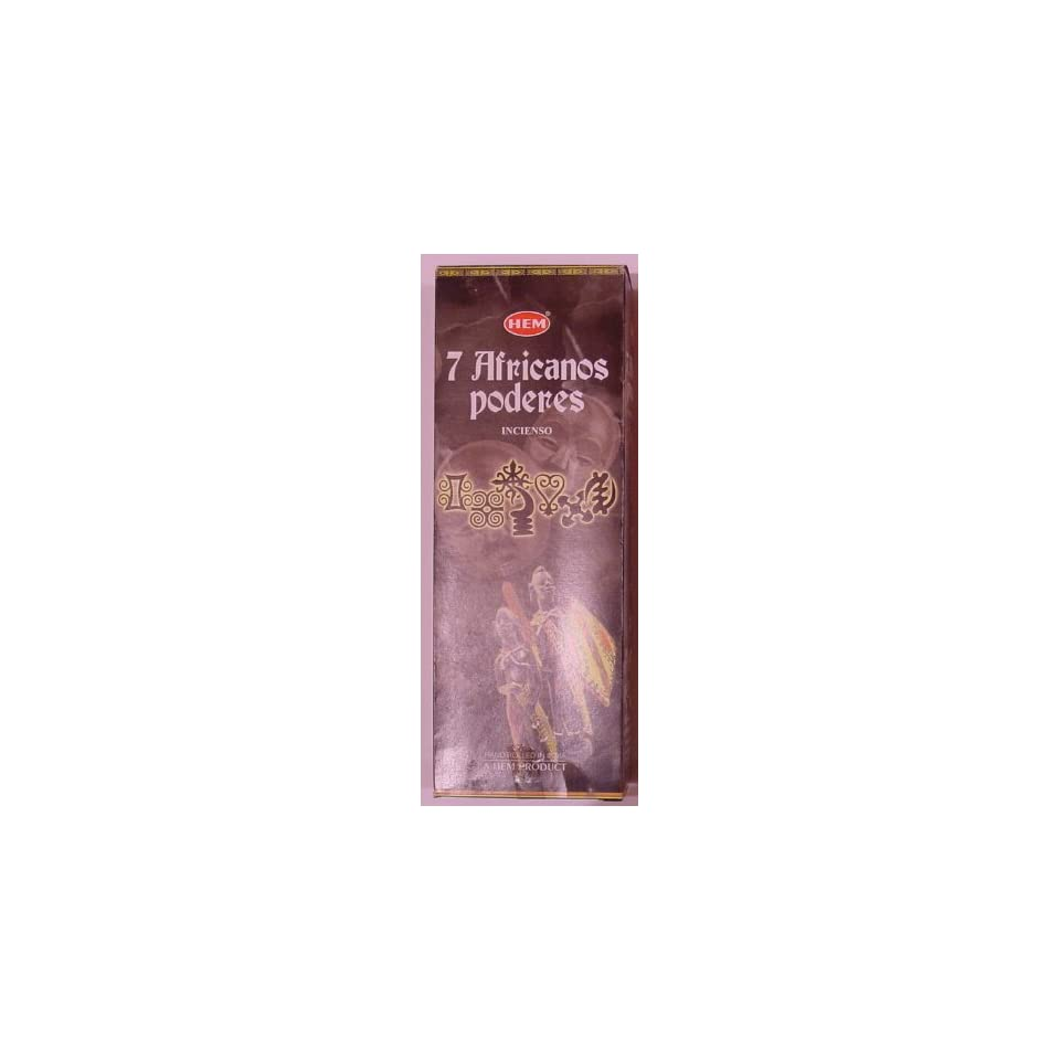 Seven African Powers 20 Stick Hex Tube HEM Incense on PopScreen