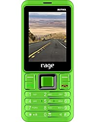 Rage Mitwa - Phone & Powerbank in One. Colour : Green for Nokia 2700 classic and any Phone / Tablet / MP3 player / TV / Radio etc. Colour : Green. Micro USB charging cable included