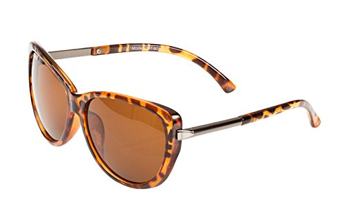Catania Occhiali Womens Cateye Sunglasses - Turtleshell