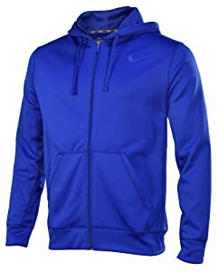 Nike Men's KO Full Zip Training Hoodie-Bue-Medium