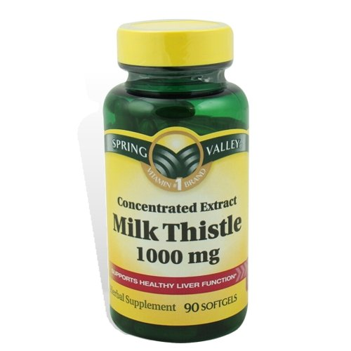 Spring Valley Milk Thistle 4:1 Concentrated Extract 1,000 mg - 90 Softgels