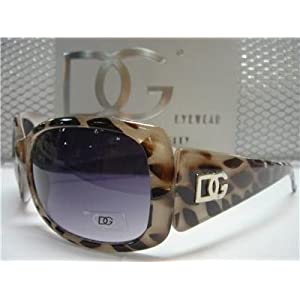 DG Eyewear White Animal Print Sunglasses 26335