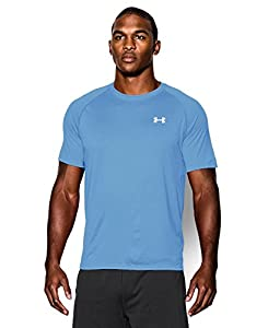 Under Armour Men's Short Sleeve Tech Tee, X-Large, Carolina Blue/White
