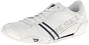 Diesel Men's Harold Solar Fashion Sneaker, White/Navy, 11 M US