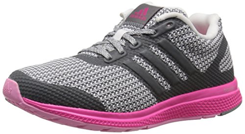 Adidas Performance Women's Mana Bounce Running Shoe,Vista Grey/White/Shock Pink,8 M US