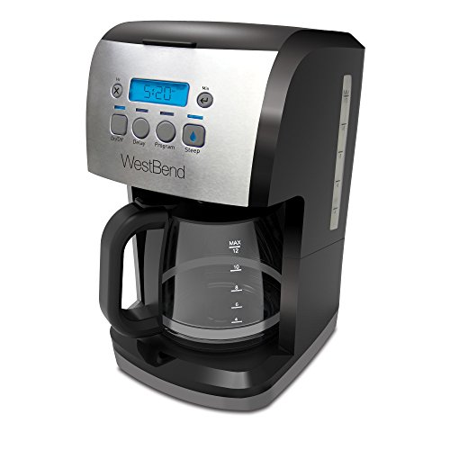 West Bend 56911 12 Cup Steep & Brew Coffee Maker, Black/Metallic (Coffee Maker 1 Cup At A Time compare prices)