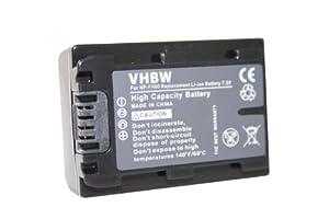 Batterie LI-ION noir compatible pour SONY Cybershot DSC-HX200, DSC-HX200V remplace NP-FH40 / NP-FH50 / NP-FH70 / NP-FH100
