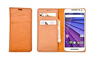 R&A Pu Leather Wallet Case Cover For Lenovo A350