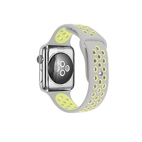 Per Apple Watch Serie 1Serie 2morbido silicone Sport Bracciale cinturino braccialetto cinturino di ricambio con rilascio rapido per Apple iWatch Sport Band
