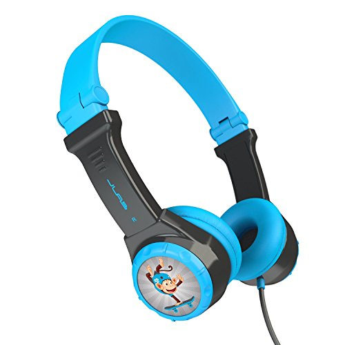 JLab Audio Kids- folding, Volume Limiting Headphones, GUARANTEED FOR LIFE