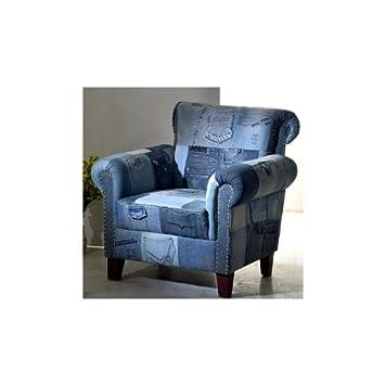 SalesFever Sessel Indigo Patchwork Jeans groß