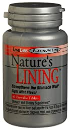 Lane Labs Nature\'s Lining,60 Chewable tablets, 1.75-Ounce Bottle