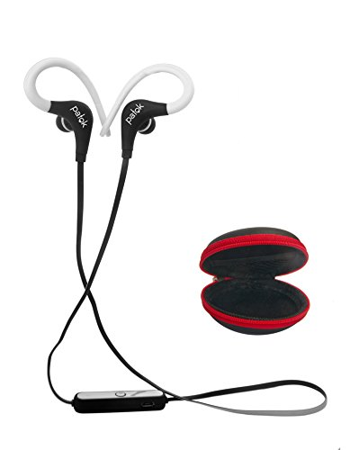 Bluetooth Headset Fitness, Wireless Earphones to Sports, Driving, Running, Biking . Light Comfortable Premium Noise Cancelling . Headphones Great Sound Quality & Built-In Mic PATOK. (White/Black)