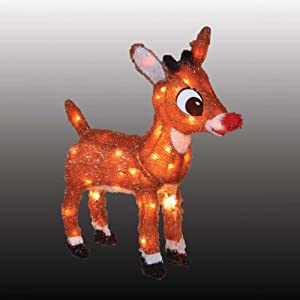 "Amazon.com - 32"" Pre-Lit Rudolph The Red Nosed Reindeer 3-D"