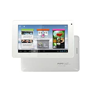 """PiPO S1 7"""" inch Capacitive Screen Tablet RK3066 Dual Core 1.6GHz Cortex A9 Processor Quad Core Mali400 GPU DOUBLED RAM 1GB DDR3 Hard Drive 8GB HDMI output Latest Android 4.1.1 Jelly Bean OS 3D Graphic Accelerator Wifi 3G (supported) Webcam for Skype Video Calling Compatible with BBC iPlayer / Youtube / Facebook by Halagsm White UK stock based in London Dispatched within 24 hours after purchase ."""