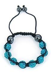 Shamballa Inspired 10mm Crystal Shining Beads Kids Children Bracelets Blue Beads