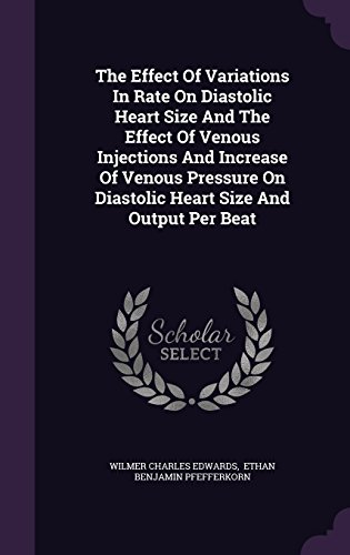 The Effect Of Variations In Rate On Diastolic Heart Size And The Effect Of Venous Injections And Increase Of Venous Pressure On Diastolic Heart Size And Output Per Beat