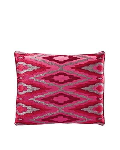 Nanette Lepore Sequin Gradient Rich Ikat Pillow, Maroon