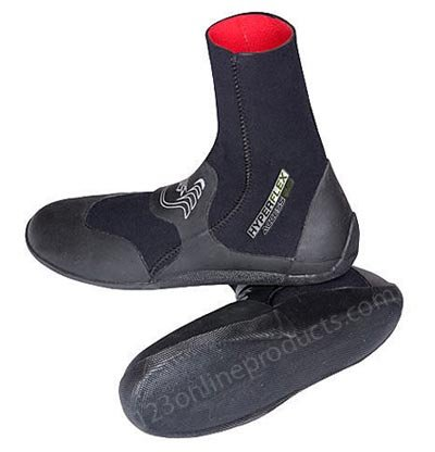 Hyperflex Wetsuits Men'S 5Mm Access Round Toe Boot, Black, 9 - Surfing, Windsurfing & Wakeboarding