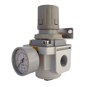 "PneumaticPlus Air Pressure Regulator 3/4"" NPT (High Flow) with Gauge & Bracket at Sears.com"