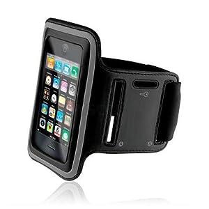 iPhone4/4S/3G/3GS/iPod touch対応 スポーツ アームバンド(ブラック)