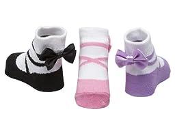Baby Emporio-3 Pr Baby Girl Socks-0-9 Mos-Gift Pouch (BALLERINA)