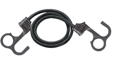 Master Lock 3031EURDAT Corda Elastica, Gancio Ergonomico EZ Grip, Nero, 80 cm
