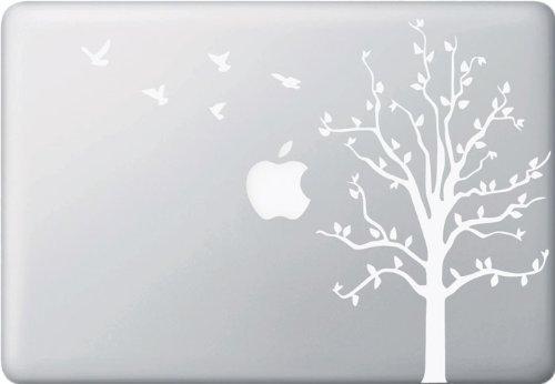 Yadda Yadda Design Co. Apple Tree with Birds WHITE Macbook or Laptop Decal