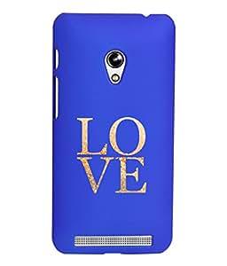 KolorEdge Printed Back Cover For Asus Zenfone Go ZC500TG - Dark Blue (5859-Ke15114ZenGoDBlue3D)
