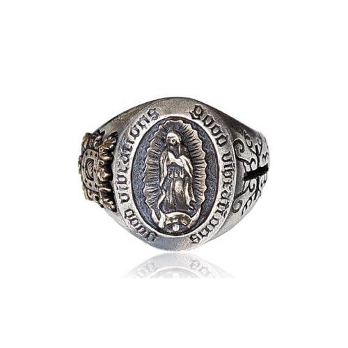 シルバーアクセサリー シルバーリング 指輪 メンズ リング マリア r0627 フリーサイズ(目安:9号から17号前後)