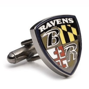 Baltimore Ravens NFL Logo'd Executive Cufflinks w/Jewelry Box by Cuff Links