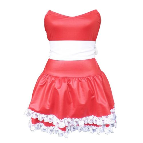 Christmas Cuture Costume Outfit - Red Bunny Girl Dress 1st Kid Large