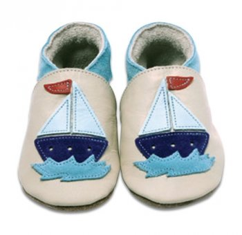 Inch Blue Boat Baby Blue Soft Shoes, Soft shoes, Baby boy, 6-12 months