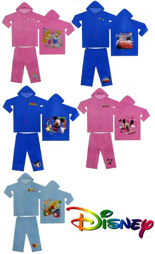 Disney Character Childrens Rainsuit - Cars, Micky, Minni, Princess, Winnie Ages 3/4, 5/6 7/9