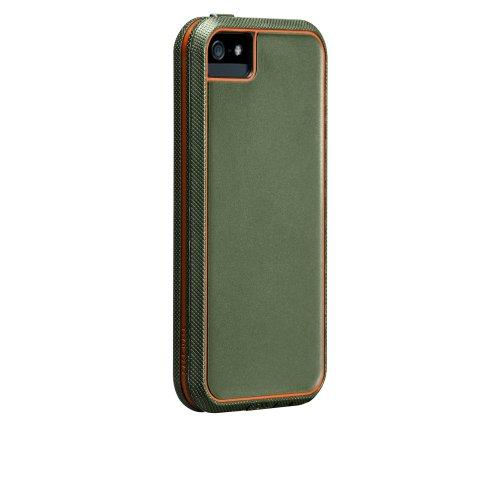 【米軍MIL規格標準準拠製品】 Case-Mate 日本正規品 iPhone5 Tough Xtreme Case, Military Green / Orange タフ・エクストリーム ケース, ミリタリーグリーン/オレンジ CM022432 【ビルトイン・スクリーンプロテクター マルチレイヤーデザイン採用】