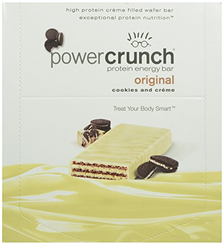 Power Crunch High Protein Energy Snack, Cookies & Creme, 1.4-Ounce Bars (Pack of 12)