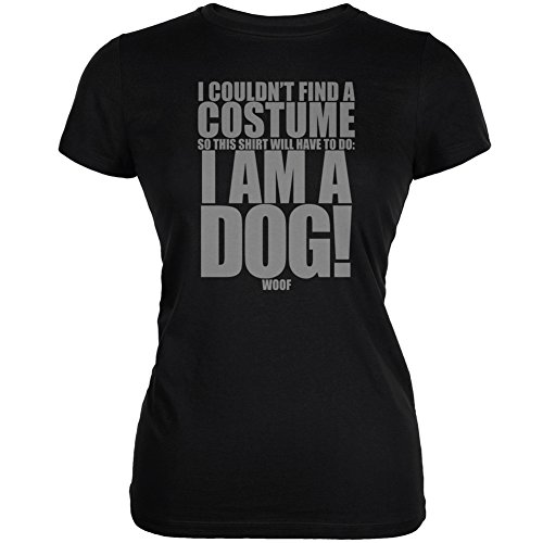 Halloween Cheap Dog Costume Black Juniors Soft T-Shirt