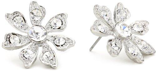 Nina Crystal Flower Stud Earrings