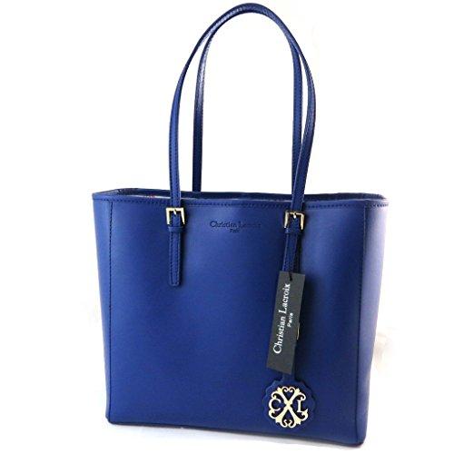 Borsa in pelle 'Christian Lacroix'blu.
