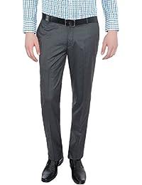 Only Vimal Men's Light Grey Slim Fit Formal Trouser - B01H1XCZ3I