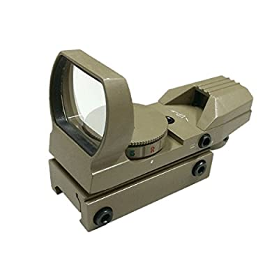 EconoLed Holographic 4 Multi-Reticles Tactical Dual IlluminatedRed/Green Reflex Sight, Flat Dark Earth US Seller by EconoLed