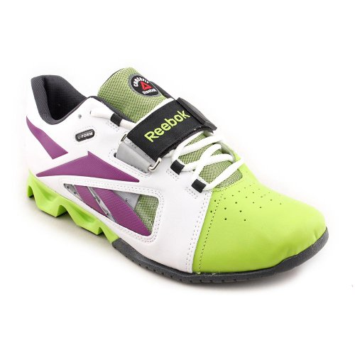 96cdb030d3aa04 Reebok Womens CrossFit Oly U Form White Charged Green Aubergine Athletic  Shoes 9 5