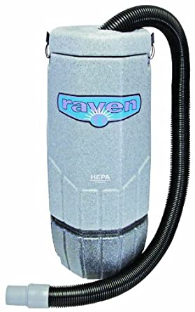 Sandia 20-3002 HEPA Raven Commercial Backpack Vacuum with Power Head, 10 Quart Capacity