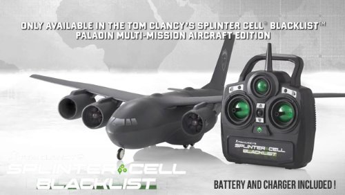 Tom Clancys Splinter Cell Blacklist Paladin C147-B Aircraft Edition RC Plane RTF Aircraft Only - game sold separate