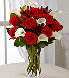 The Flower Expert - Vase Included - Eshopclub - Anniversary Flowers - Wedding Flowers Bouquets - Birthday Flowers - Send Flowers