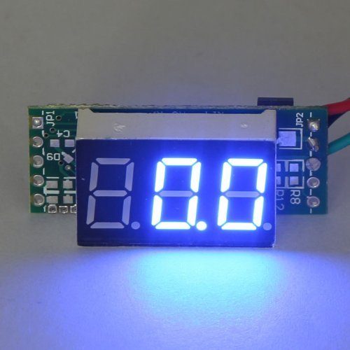 Riorand Mini Digital Ammeter 0-50A Dc Electric Panel Blue Led Amprage Tester Current Measurement
