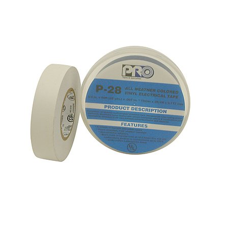 Nitto (Permacel) P-28 All-Weather Colored Electrical Tape: 3/4 In. X 66 Ft. (White)