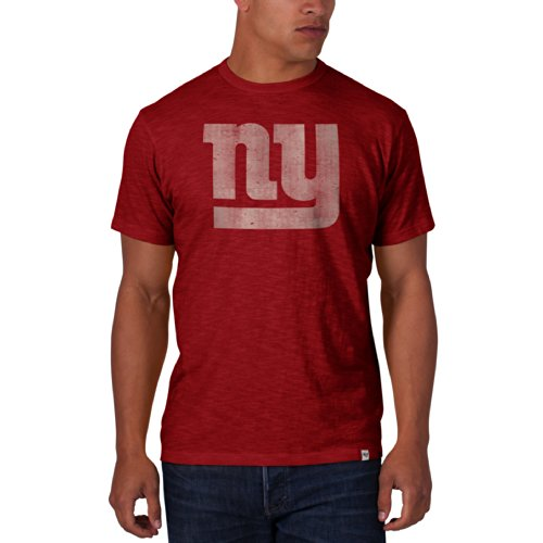 Nfl New York Giants Men'S '47 Brand Scrum Basic Tee, Rescue Red, Xx-Large front-944932